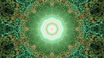 um túnel distorcido com ornamento de octógono ilustração 3 d