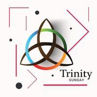 ilustración vectorial de un fondo para el domingo de la Trinidad. vector