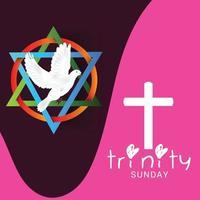 ilustración vectorial de un fondo para el domingo de la Trinidad.