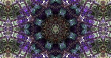 animação caleidoscópio colorido abstrato com uma textura gradiente video