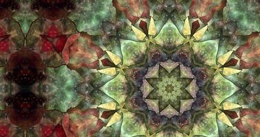 Abstract Colorful Kaleidoscope Animation with A Gradient Texture