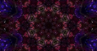 animação caleidoscópio colorido abstrato com uma textura gradiente