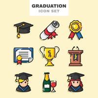 Graduation Icon Set vector