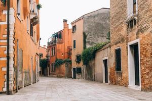 Venice, Italy 2017- Tourist routes of the old Venice streets of Italy