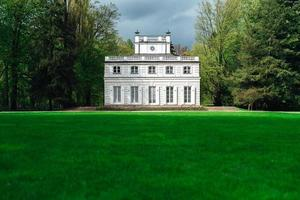 Warsaw, Poland 2017- Ancient palace and park ensemble of Lazienki in Warsaw photo