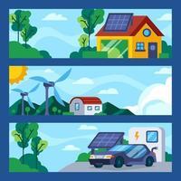 Green Technology Concept Banner Template vector