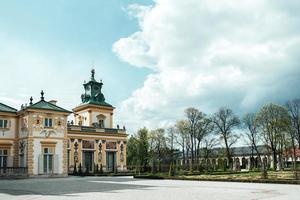 Warsaw, Poland 2017- Old antique palace in Warsaw Wilanow, with park architecture photo