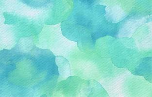 Bonito fondo de acuarela en color turquesa. vector