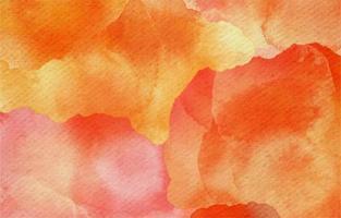 Modern Watercolor Background In Orange Color vector