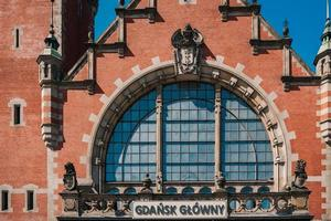 Gdansk, Poland 2017- Building of the main railway station