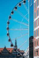 Gdansk, Poland 2017- Ferris wheel against the blue sky