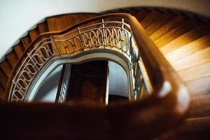 Old vintage semicircular staircase