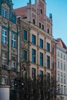 Gdansk, Poland 2017- Buildings and architectural elements historical part of Gdansk, Poland
