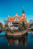 Gdansk, Poland 2017- Building of the of the tourist and historical part of Gdansk Poland