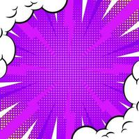 Comic Halftone Background Template vector