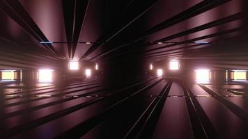 illustration 3 d couloir vineux sombre video
