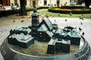 Cracovia, Polonia 2017- una miniatura de bronce fundido de Cracovia en Polonia foto