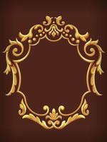Vintage Gold Royal Ornamental Frame Decorative Vector Element