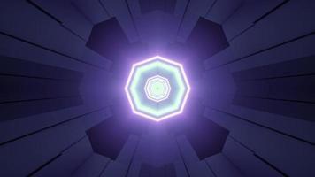ilustração 3d dinâmica repetitiva de octógonos de néon video