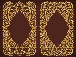 Vintage Gold Floral Ornamental Frame Decorative Vector Element