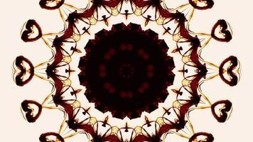 Kaléidoscope symétrique coloré abstrait video