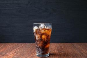 Glass of soda on a table