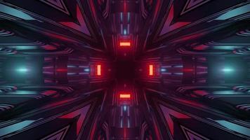 luzes brilhantes da ilustração 3d da arte abstrata