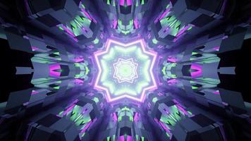 Un túnel abstracto con paredes de vidrio ilustración 3d