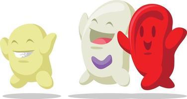 plasma rojo glóbulos blancos hemoglobina dibujo vectorial de dibujos animados vector