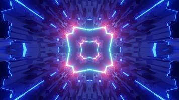 Ilustração 3D de túnel móvel em forma de quadrado video
