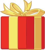 regalo presente cumpleaños aniversario caja dibujo de ilustración de dibujos animados vector