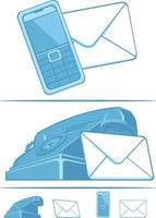 símbolo contáctenos servicio al cliente iconos de dibujos animados dibujo vectorial vector