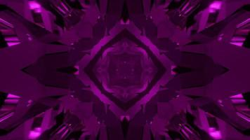 Abstract 3d Illustration of Dynamic Geometrical Purple Patterns