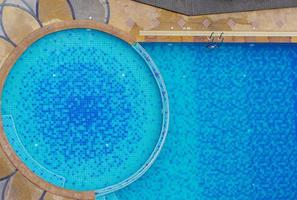 Top view of a swimming pool at the edge