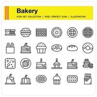 Bakery Icon set vector