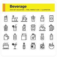 Beverage Icon set vector
