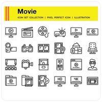 Movie iCON SET vector