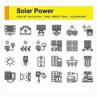 Solar Power icon set vector