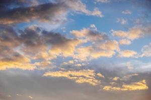 Sunset colors on clouds photo
