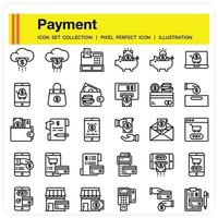 Payment Outline icon vector