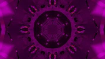 Ilustración 3d dinámica abstracta de replicar patrones esféricos púrpuras