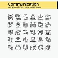 Communication Outline icon set vector