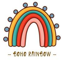 Boho clipart for nursery decoration with cute rainbows. Perfect for baby shower, birthday, childrens party