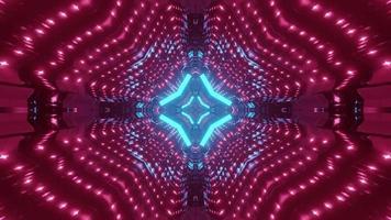 ilustração 3D do túnel de néon mudando de cor