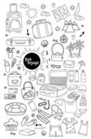 Bon voyage. Collection of travel icons vector
