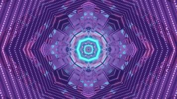 ilustração futurística do túnel geométrico 3 d