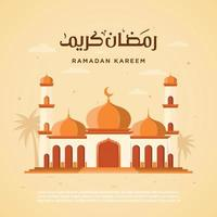 Illustration vector graphic ramadan kareem good of for greeting card, background, flyer, template. Eps 10