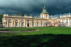 Warsaw, Poland 2017- Old antique palace Wilanow in Warsaw photo