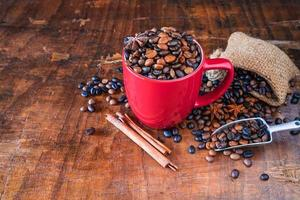 Cup of roasted coffee photo