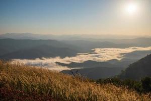 Morning mountain view photo